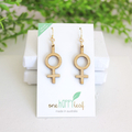 Feminist earrings - female empowerment jewelry - feminist jewellery - feminist d