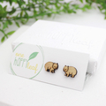 Wombat stud earrings - Australian natuve animals studs, cute wombat earrings