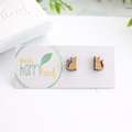 Cat stud earrings - cat earrings, cat jewellery, cat studs, gift for cat lover