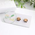 Pig stud earrings - pig earrings, pig jewellery, pig studs, gift for piglet love