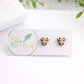 Cow stud earrings - cow earrings, cow jewellery, bull studs, gift for cow lover