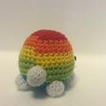 Crochet turtle stuffed toy