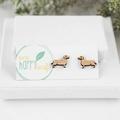 Sausage dog earrings - dachshund earrings - Sausage dog gifts - dashund studs -