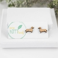 Sausage dog earrings - dachshund earrings - Sausage dog gifts - dashund studs -