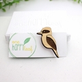 Kookaburra brooch - Australian animal badge - Kookaburra lover gift