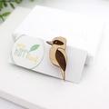 Kookaburra brooch - Australian animal badge - Kookaburra lover gift