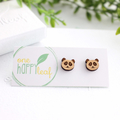 Panda stud earrings - animal studs, cute earrings, panda gift