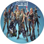 Edible Personalised Fortnite Round Rice Paper Cake Topper