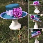 Pastel colours formal hat
