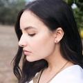 Set of three, square studs, square stud earrings, everyday earrings, small earri