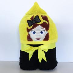Yellow Girl Hooded Towel