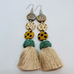 In The Wild Collection - Sa-fari, so good. Mega Statement Tassel Earrings.