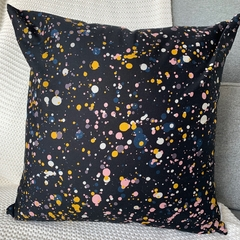 Mustard, Pink and White Spot Cushion