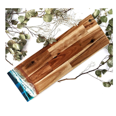 Ocean Resin Cheese and Chopping Board | Long Beach Look Wooden Board for Housewa