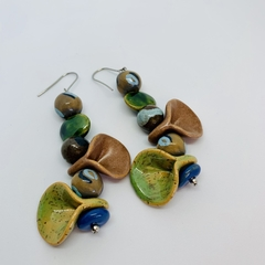 In The Wild Collection - Sa-fari, so good. Kazuri Bead Earrings.
