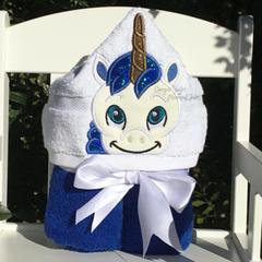 Boy Unicorn Hooded Towel