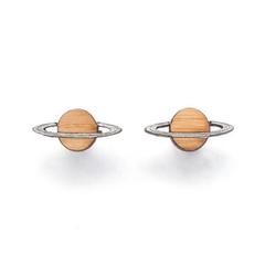 Solar system jewelry, Saturn planet stud earrings - astronomy gifts - planet ear
