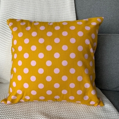 Mustard with Pink Dots Cushion