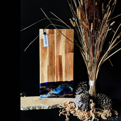 Blue Resin Cheese Board | Modern Resin Wooden Chopping Board | Special Housewarm