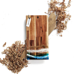 Father's Day Gift Ocean Resin Cheese Board | Resin Wooden Chopping Board | Resin