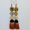In The Wild Collection - Sa-fari, so good. Mega Statement Tassel Earrings.