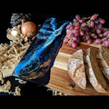 Blue Resin Wooden Chopping Board | Unique Cosmic Resin Cheese Board or Antipasto