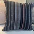 Pink, White and Grey Tapestry Cushion
