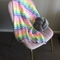 Rainbow Ripple Baby Blanket