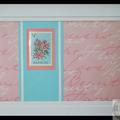 Framed Stamp from Barbuda – Heritage Decor, Pink & Blue