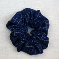 Jumbo Scrunchie - Navy blue and gold glam hair tie