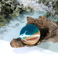 Sets of four resin ocean art round unique handmade resin coasters, ocean inspire