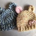 Newborn / Premmie Teddy Bear Beanie / Hat
