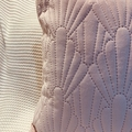 Rose Pink Quilted Velvet Feel Cushion