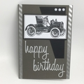 Birthday Card - Vintage Car