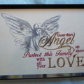 """""""Guardian Angel"""" Framed Embroidered Picture"""