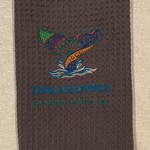Thalassophile - Lover of the Sea Embroidered Tea Towel