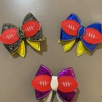 AFL Footy Hair Bows