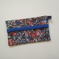 Tissue Holder - Botanical Floral - Coral/Blue - Bag Accessory - Practical Gift