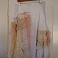 Plus size cotton skirt,  boho skirt, Vintage lace skirt