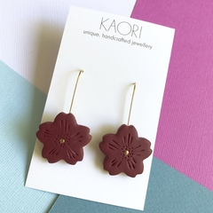 Polymer clay earrings, Sakura cherry blossom floral