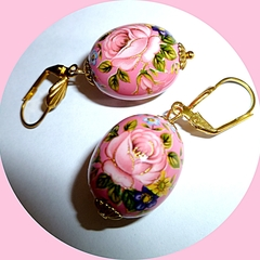 Pink Tensha earrings