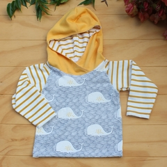Pullover with Long Sleeves and Hood - Size 12-18m