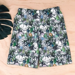Size 3 - Shorts - Jungle Animals - Boys - Retro - Cotton