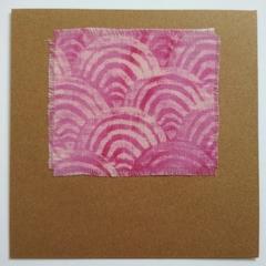 Blank Card - Seigaiha Wave - Tie-Dye Fabric - Birthday, Wedding, Thank You