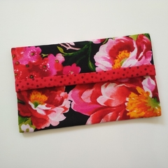 Tissue Holder - Peonies & Cherry Blossoms - Handbag Accessory - Gift for Her