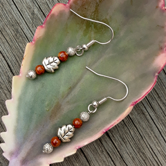Leaf with autumn colours Earrings