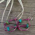 Wire and Turquoise Earrings
