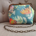 Wildflower Purse with Shoulder Length Chain