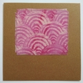 Blank Card - Seigaiha Wave - Tie-Dye Fabric - Birthday, Wedding, Thank You