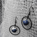 Floating Cloisonne Bead earrings